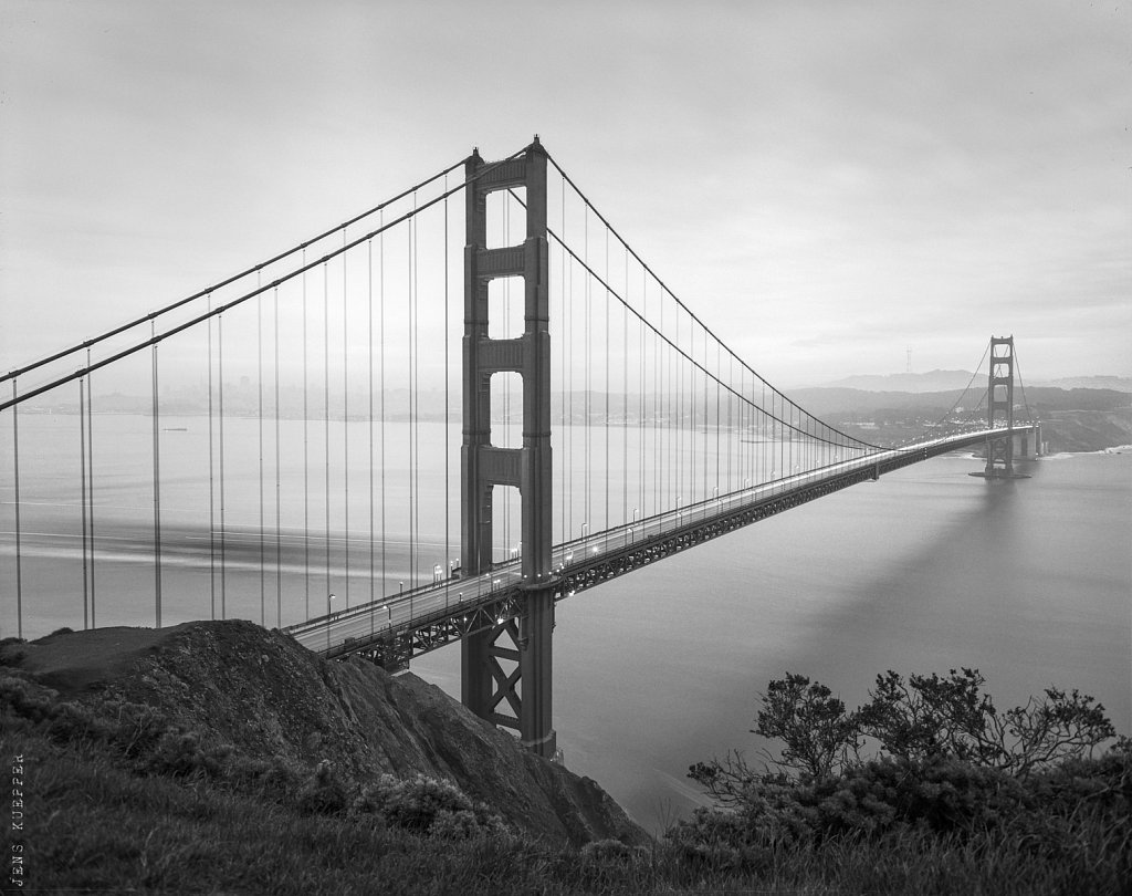 Golden Gate Bridge am Morgen – USA, 2013